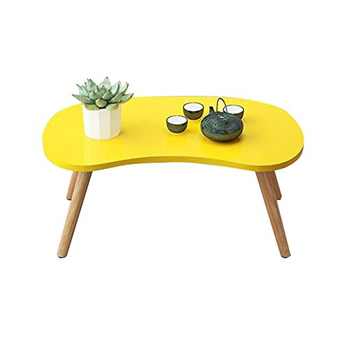HAIZHEN Tables basses Table basse en bois massif, stable et facile à nettoyer Table basse pour chambre à coucher, baie vitrée (Couleur : C)