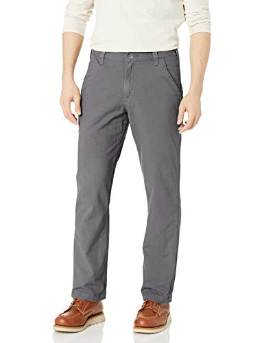 Carhartt Men's Rugged Flex Rigby Dungaree Pant, Gravel, 34W X 34L