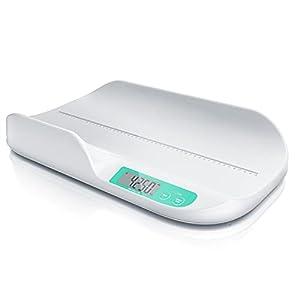 CSL - Báscula digital para bebés (56 x 33 cm, 20 g hasta 20 kg, precisión de 5 gramos, para animales de bebé, pantalla de 2,9 pulgadas, botones táctiles)