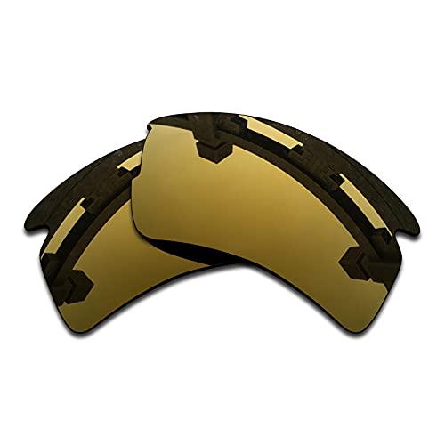 SYEMAX Lentes de repuesto para espejo polarizado, compatibles con Oakley Flak 2.0 XL (OO9188) Sunglass - Múltiples opciones, (Flash Bronce Polarizado), Talla única