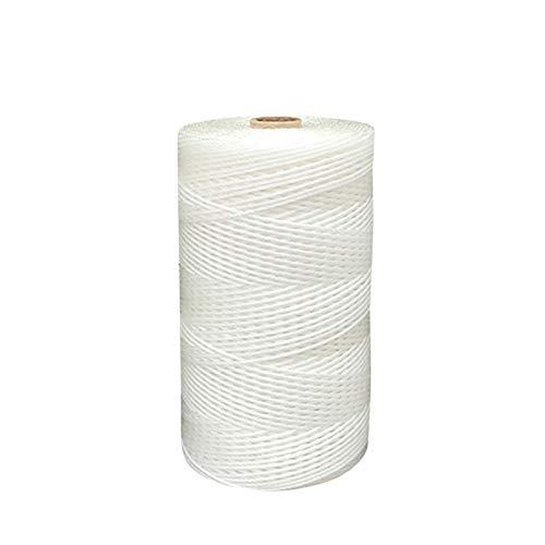 ZHWNGXOlian Cuerda De Nailon Blanca Multifuncional para Jardinería Al Aire Libre Y Cuerda De Embalaje Cuerda De Plástico De Polietileno De 2/3 / 4mm(Size:4mmx100m)
