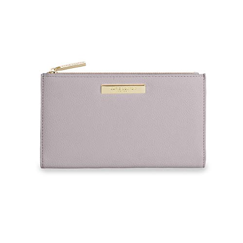 Katie Loxton Alise Womens Vegan Leather Zipper Fold-out Purse Wallet - Purple - 4.25 x 7.5 x 0.5