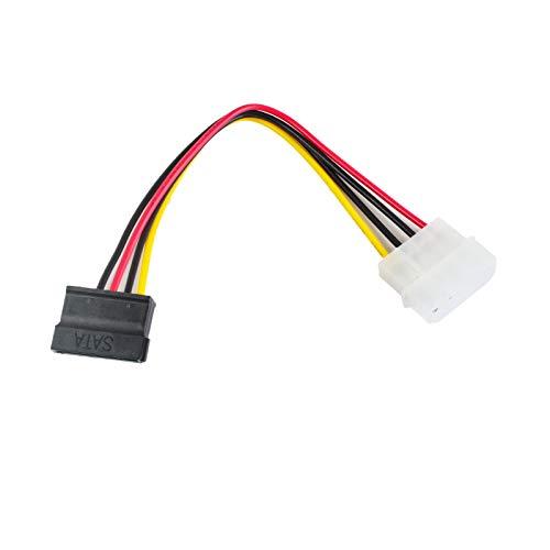 Cable adaptador adaptador de 20 cm, 4 pines macho IDE Molex a hembra de 15 pines SATA dual divisor de alimentación utilizado