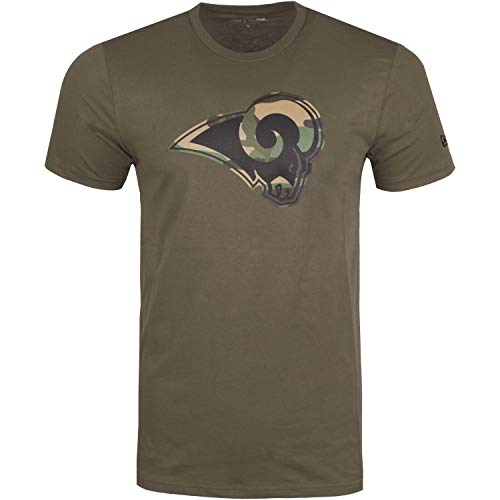 New Era Los Angeles Rams T Shirt Camo Logo Tee Olive - XXL