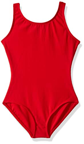 Capezio Big Girls' Tank Leotard, Red, L (12-14)