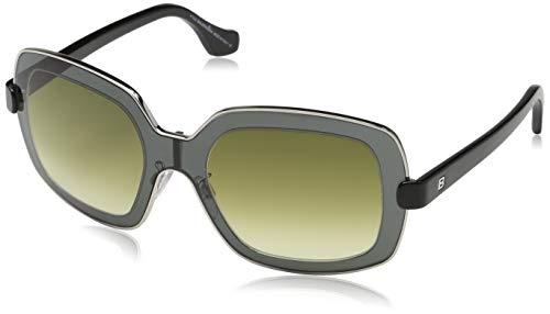 Balenciaga BA0063 01P -55-21 -140 Balenciaga zonnebril BA0063 01P -55-21 -140 rechthoekige zonnebril 55, grijs