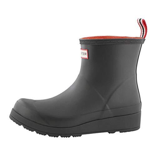 HUNTER Boot Women's Original Insulated Play Short Rain Boot Black 7 Medium US
