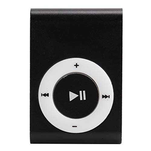 Vipxyc Juego de Reproductor de música MP3 portátil con Material de aleación de Aluminio, Fijable, batería de Larga duración, Vida útil más Larga Adecuado para Deporte(Negro)