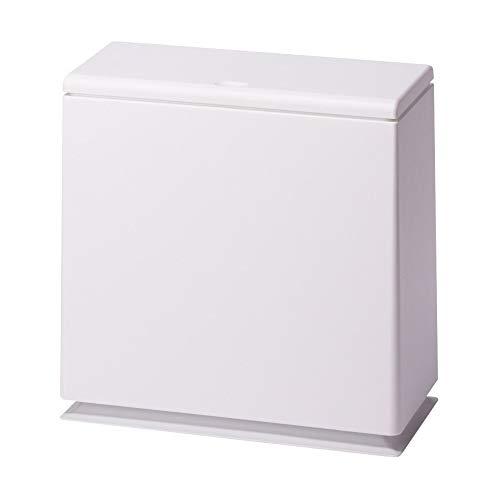 イデアコ フタ付ゴミ箱 チューブラー キッチン フラップ ホワイト