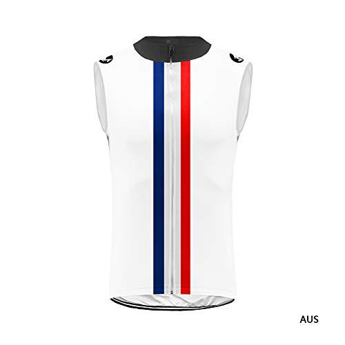 Uglyfrog® Rennrad Herren Bike Wear Fahrrad Trikot Ärmellos Radtrikot Cycling Vest Atmungsaktiv Bequem - Anti Schweiß - Shirts - Fahrradtrikot mit Reissverschluss DEHerrenT20