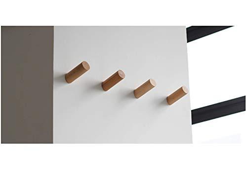 anaan One-Tenth Appendiabiti da Parete Legno Attaccapanni Muro Ganci appendi Cappotti Moderno Design Ingresso Decorazione Scandinave (Faggio, Set di 4 M Φ3*8cm)