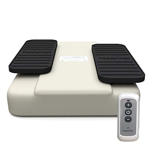 Happylegs 2021 - Ejercitador de Piernas Gimnasia Pasiva para Mayores y Jóvenes Apto para Rehabilitación. La Máquina de Andar Sentado que Ayuda a Mejorar la Circulación. (Blanca)