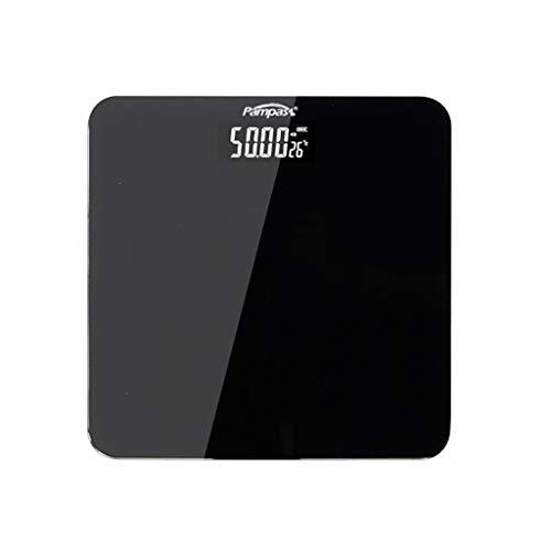 Balanzas electrónicas USB for Adultos Carga Escala del Cuerpo Chica precisa medición de Peso de Origen balanzas electrónicas (Color : Black)