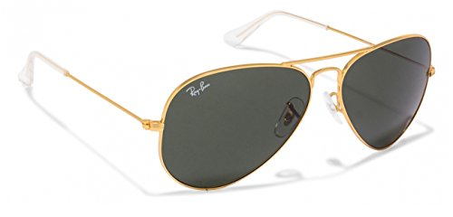Ray-Ban RB3025 Classic Aviator Sunglasses Gold/Crystal Grey green (L0205) RB 3025 58mm