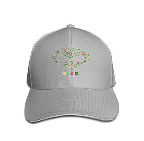 Xunulyn Unisex Women Cotton Adjustable Baseball Caps Low Profile Washed Dad Hats dope Trip Flat Pattern Marijuana Leafs Donuts Pizza Slices alie Gray