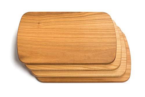 TNNature Frühstücksbretter Holz (Kirsche) 4 teilig