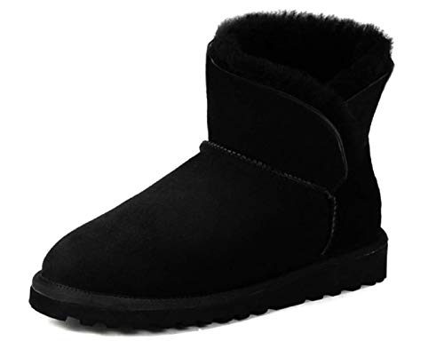 ws Boots Basses entièrement fourrées (40 EU, Noir)