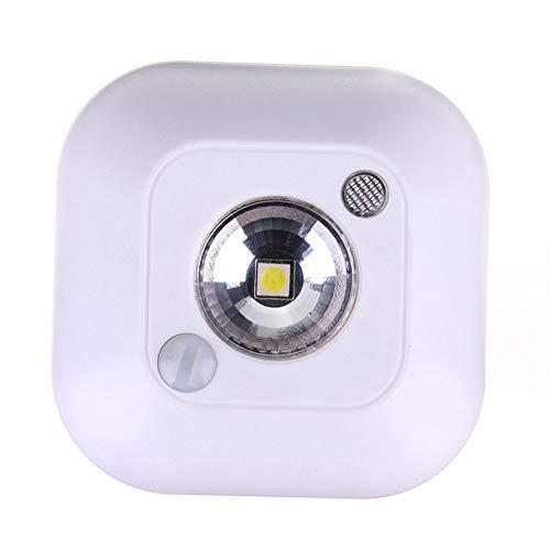 XHSHLID praktische mini-bewegingssensor, plafondlamp, nachtlampje, werkt op batterijen, droog, veranda, LED-licht