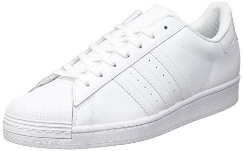 adidas Men's Superstar Sneaker, FTWR White/FTWR White/FTWR White, 4.5 UK