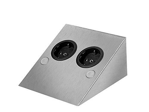 Thebo ST/2 889 SI ST2SI Steckdosenelement Edelstahl 2-fach WAND Steckerleiste