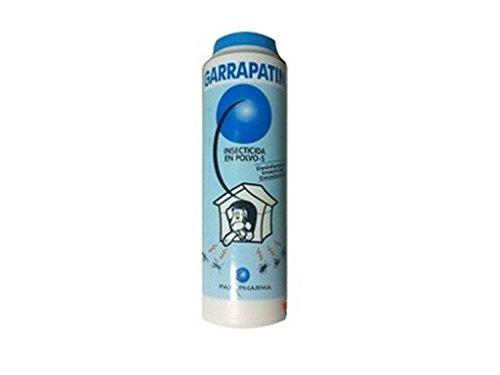 GARRAPATIN Antiparasitario pulgas casetas y Camas de Perro y Caballo Polvo 400g