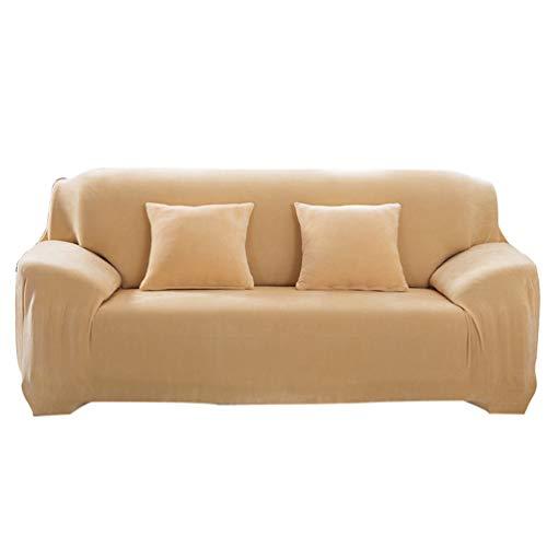 Heheja 1/2/3/4 Sitz Sofabezug Sesselgarnitur Elastisch Hautfreundlich Elastisch Ärmel Warm Gepolstert Sofabezug Gelb