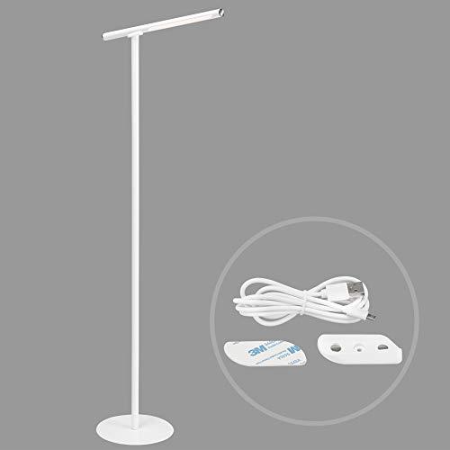 Briloner Leuchten - LED Stehleuchte, Stehlampe, inkl. Wandleuchte, dimmbar, Farbtemperatursteuerung, 2,3 Watt, 300 Lumen, Weiß, 240x240x1305mm (LxBxH), 1384-016