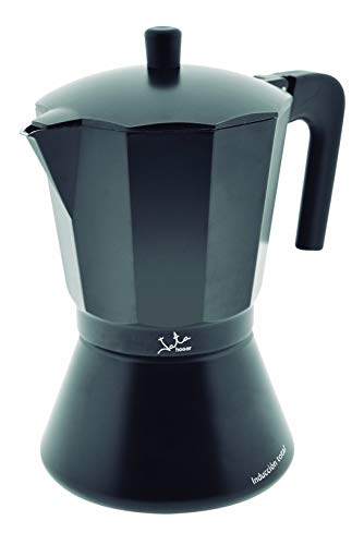 Jata Hogar Cafetera Italiana Full Induction, Aluminio, Negro, 16.2x13.7x22.3 cm
