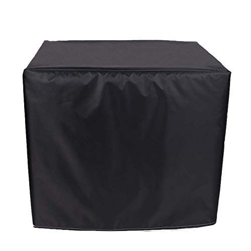 WZDD 240x240x85cm Funda para Mesa De Jardin Impermeable Rectangular, Cubierta De Muebles De Exterior, Cubierta De Mesa Patio, Funda para Muebles De Jardin RectáNgulo, Negro