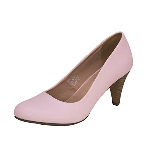 Fitters Footwear That Fits Damen Pump Princess PU Pumps mit bequemem Lederfutter Übergröße (43 EU, pink)