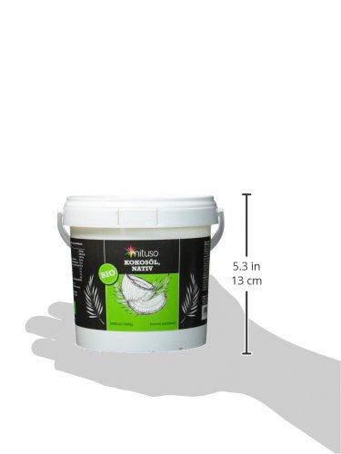 mituso Bio Kokosöl, nativ, DE-ÖKO-037, 1er Pack (1 x 1000 ml) im praktischen Eimer - 7