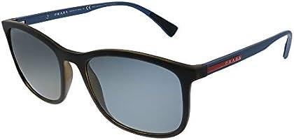 Sunglasses For Men By Prada, Blue Lens, 55mm