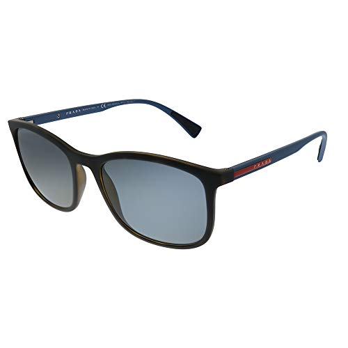 Prada Sport 0PS01TS U61144 56 Occhiali da sole, Marrone (Havana Rubber/Polargrey), Uomo