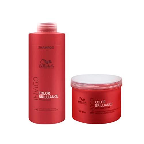 Kit Shampoo e Máscara Wella Collor Brilliance Invigo