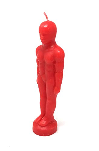 Pine Pentagram Male Figure Image Candle (Red)