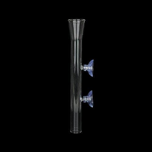 Senzeal Aquarium Clear Glass Feeder Tube for Fish Tank Shrimp Feeding with 2pcs Suction Cups (200mm)