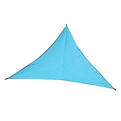 HETUI Triangle Sun Shelter Sombrilla Toldo para Exteriores Jardín Toldo para Patio Tienda de Picnic (Azul Zafiro, 3x3x3m)