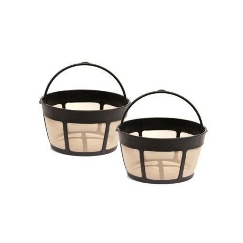 2 Pack Gtf-b Gold Tone Coffee Filter 8-12 Cup Permanent Basket Style