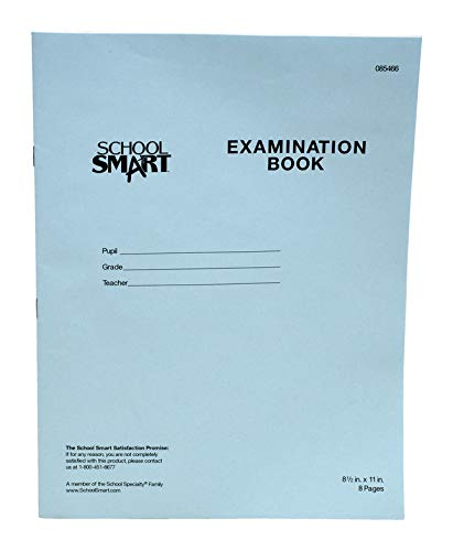 Roaring Spring Exam Blue Book White 8-1//2 x 7 Inches Margin Rule 4 Sht//8 Page 77510