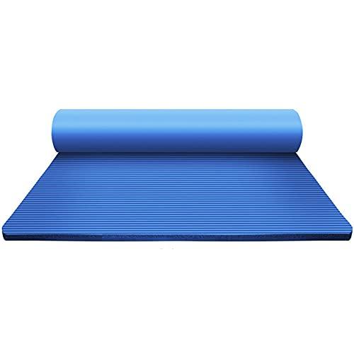 Esterilla Yoga Antideslizante Alfombrilla de Yoga Esterilla Pilates Esterilla Deporte,Estera de la yoga de la estera de la aptitud de los hombres espesada ensanchada alargada antideslizante/bl