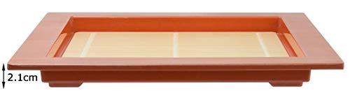 スケーター そば皿 そばザル風 メラミン 食器 正方形 浅皿 M 幅21.2×奥行21.2×高さ2.1cm ZM1
