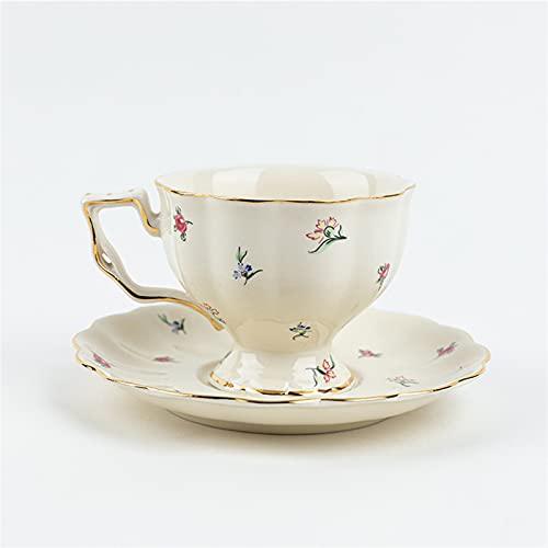 Theekopjes Koffie en keramische Engelse theekopjes Franse restaurant bar cups en schotelmok drinkwater thee set plaat…