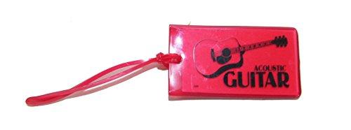 旅行カバン用ネームタグ ギター Music ID Bag Tag GUITAR (レッド)
