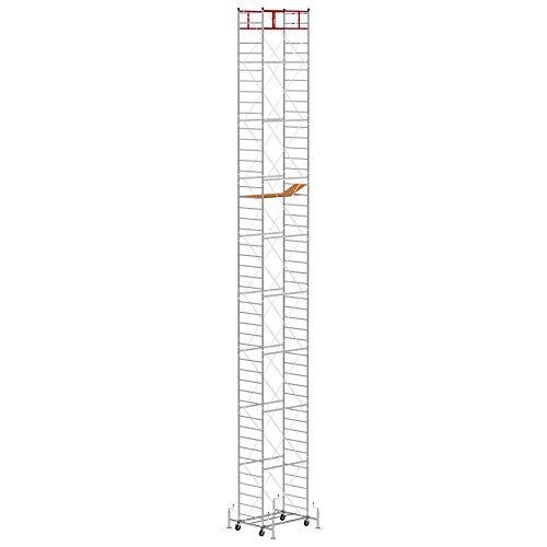 Trabattello altezza di lavoro 14.75 m in acciaio serie M5 LUX made in italy I SCEDIL