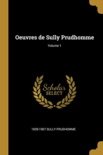 FRE-OEUVRES DE SULLY PRUDHOMME