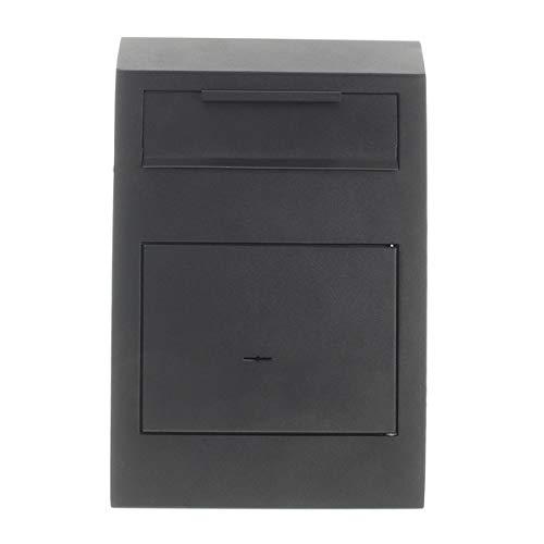 Rottner T06204 Caja Fuerte con Ranura para depósito Cashmatic Basic, Color Negro, Cerradura de Llave de Doble paletón, Tornillos de fijación incluidos