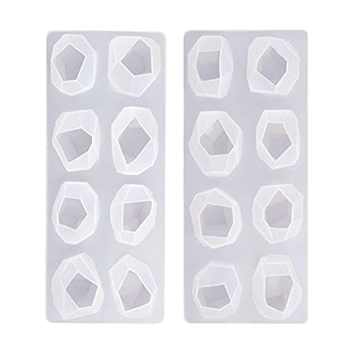 Molde de silicona, diseño de pedrería de resina con forma de estrás, colgante epoxi cristal DIY joyas moldeado herramientas