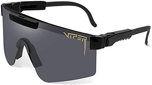 SANNIANER Gafas de sol deportivas Pit Viper para exteriores, resistentes al viento, marco doble polarizado, espejo TR90, para hombres y mujeres, para ciclismo, esquí, correr, golf