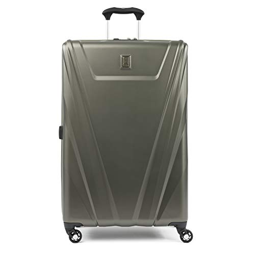 Travelpro Maxlite 5-Hardside Spinner Wheel Luggage, Slate Green, Checked-Large 29-Inch