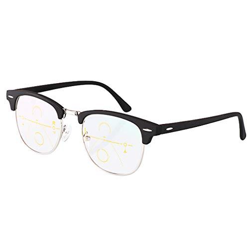 Leesbril, gekleurd, voor mannen en vrouwen, compact, voor een elegante look en een helder zicht als kristal, wanneer je het nodig hebt.